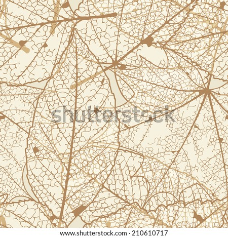 Seamless autumn leaves pattern. plus EPS10 vector file - stock vector