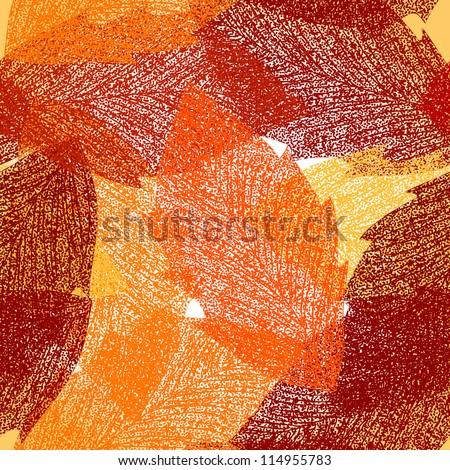 Seamless autumn leaves pattern. Vector - stock vector
