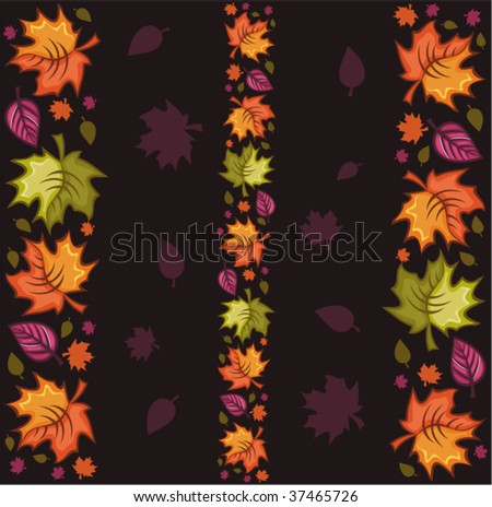 Seamless autumnal background 4 - stock vector