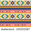 Seamless aztec pattern - stock vector