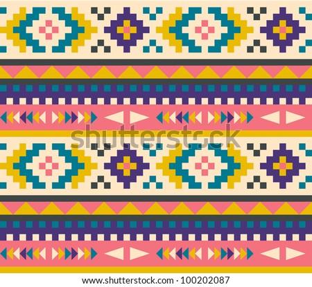Cute Aztec Patterns Seamless Aztec Pattern Stock