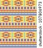 Seamless aztec style pattern #1 - stock vector