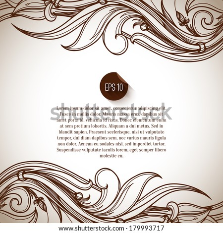 Seamless background. Abstract Retro Vintage background. Vector background. Card or invitation design element. Advertising design. Page decoration. Flat design icon. Red label. Frame/border design. - stock vector