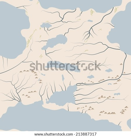 seamless background area map - stock vector