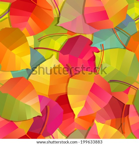 Seamless background - autumn leaves - stock vector