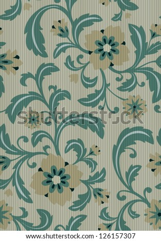 Seamless background classic floral pattern. EPS10 - stock vector