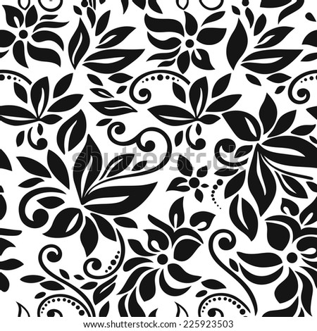 Seamless background, floral vector illustration. - stock vector