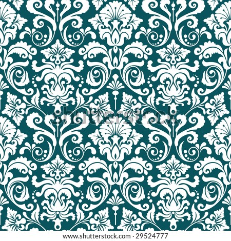 Seamless background from a floral ornament, Fashionable modern wallpaper or textile - stock vector