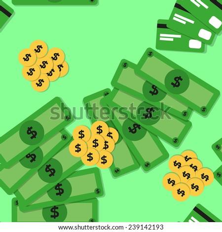 seamless background: money - stock vector