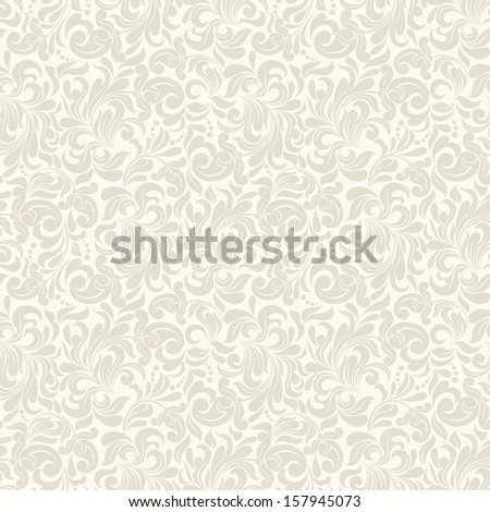 Seamless background of beige color in the style of Damascus  - stock vector