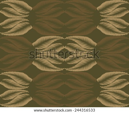 Seamless background of brown color in the style of Damascus  - stock vector