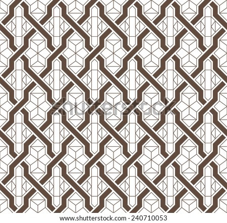 Seamless background of medieval style - stock vector