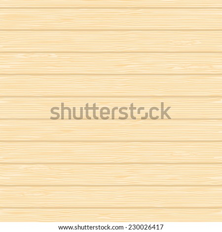 Seamless background of wooden planks of ash. Vector illustration. - stock vector