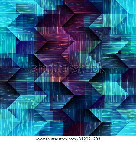 Seamless background pattern. Abstract blue geometric pattern  - stock vector