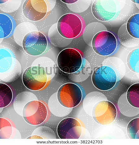 Seamless background pattern. Abstract circles geometric pattern. - stock vector