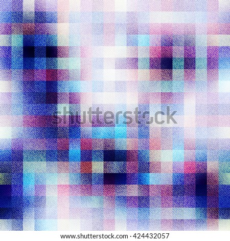 Seamless background pattern. Abstract plaid pattern with the fabric texture. - stock vector