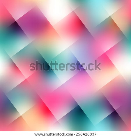 Seamless background pattern. Blurred diagonal plaid on pink background. - stock vector