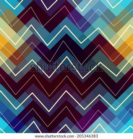 Seamless background pattern. Chevron pattern. - stock vector