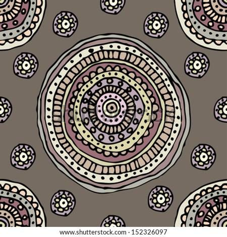 Seamless background pattern. Decorative circles pattern - stock vector