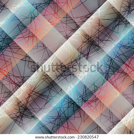 Seamless background pattern. Diagonal abstract pattern with lines - stock vector