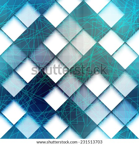 Seamless background pattern. Geometric pattern with green lines - stock vector