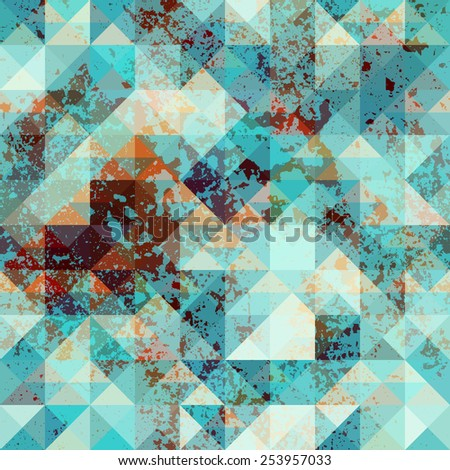 Seamless background pattern. Geometric pattern with grunge effect. - stock vector