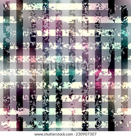 Seamless background pattern. Grunge grid pattern on blurred background. - stock vector