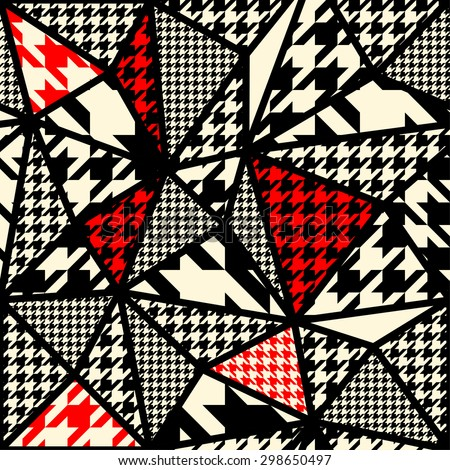 Seamless background pattern. Houndstooth pattern on abstract blur background. - stock vector