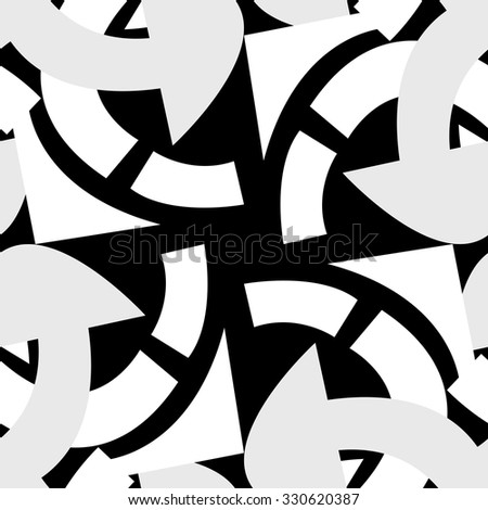 Seamless background pattern of gray curved lines - stock vector