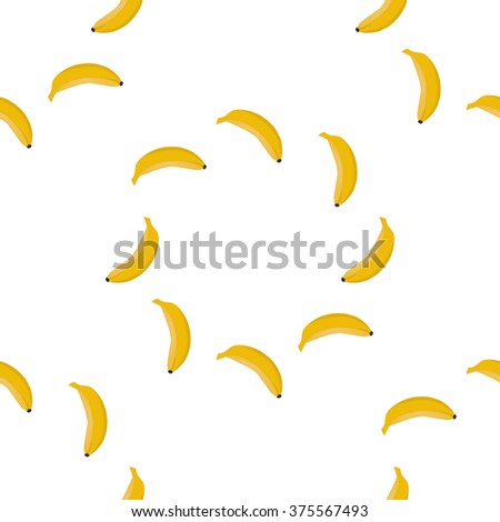 Seamless background pattern of yellow bananas - stock vector