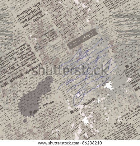 Seamless background pattern. Will tile endlessly. Text unreadable. - stock vector