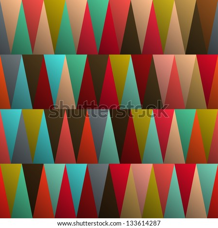 Seamless background pattern with triangles, vector illustration - stock vector