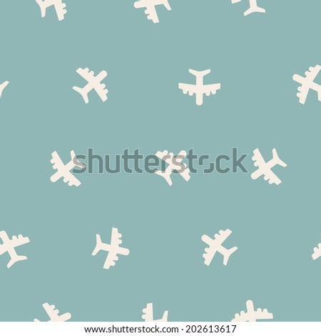 seamless background: plane - stock vector