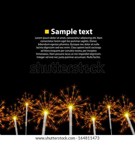 Seamless background sparkler - stock vector