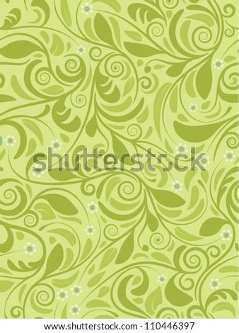 Seamless background spring green - stock vector