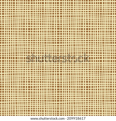 Seamless background texture of canvas. Vector illustration - stock vector