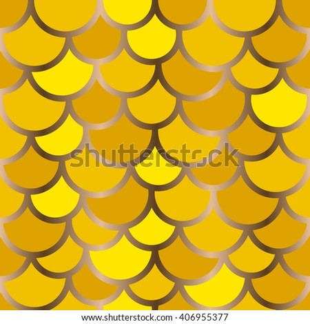 Seamless background wallpaper. Pattern of semicircles in squama style - stock vector