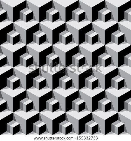 seamless background with dimensional cubes  - stock vector