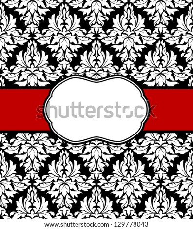 Seamless background with elegant frame  for invitation design. Jpeg version also available in gallery - stock vector