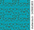 Seamless background with eyeglasses, Retro fashion pattern, VECTOR - stock vector