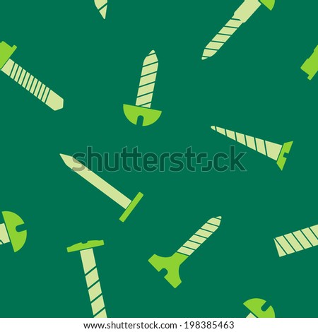Seamless background with screws - stock vector