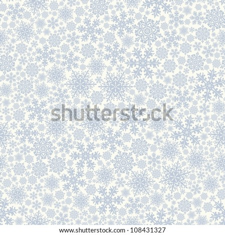 Seamless background with snowflakes - stock vector