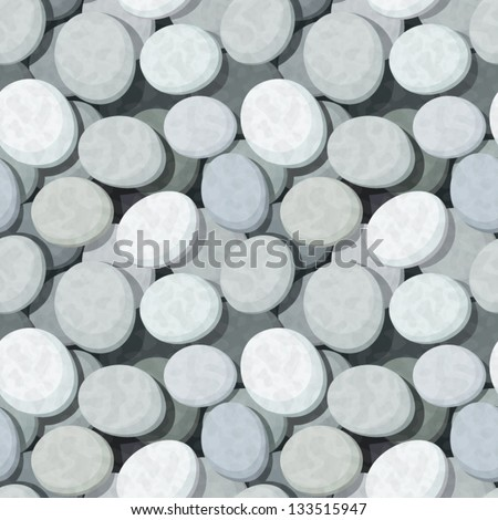 Seamless background with stones. Vector eps-10. - stock vector