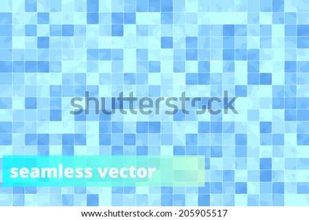Seamless bathroom tiles floor vector pattern background texture. - stock vector