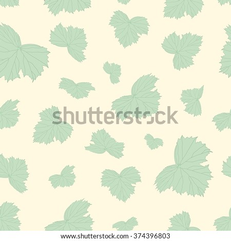 Seamless beautiful background of green leaves - stock vector
