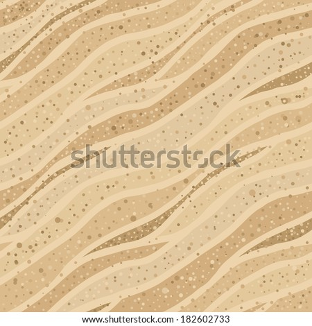 Seamless beige abstract background symbolizing sand texture - stock vector