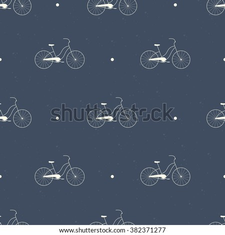 Seamless bicycles silhouette pattern. Vector illustration. Bike background. Can be used for textile design, web page background, surface textures, wallpaper - stock vector