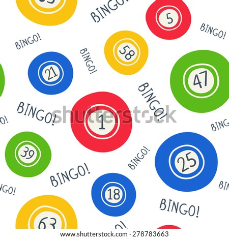 Seamless bingo pattern - stock vector