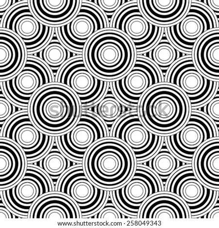 Seamless black and white geometric pattern, simple vector background, accurate, editable and useful background for design or wallpaper. - stock vector