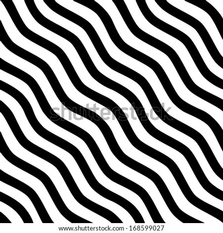 Seamless black-and-white striped background. Vector illustration - stock vector